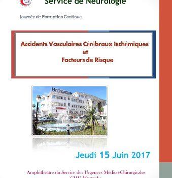 Journée Scientifique «Accidents Vasculaires Cérébraux Ischémiques et Facteurs de Risque»