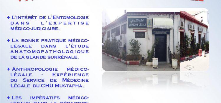 Une Journée scientifique sous le thème« Pour une Médecine Légale consensuelle » Mercredi 01 Mai 2019